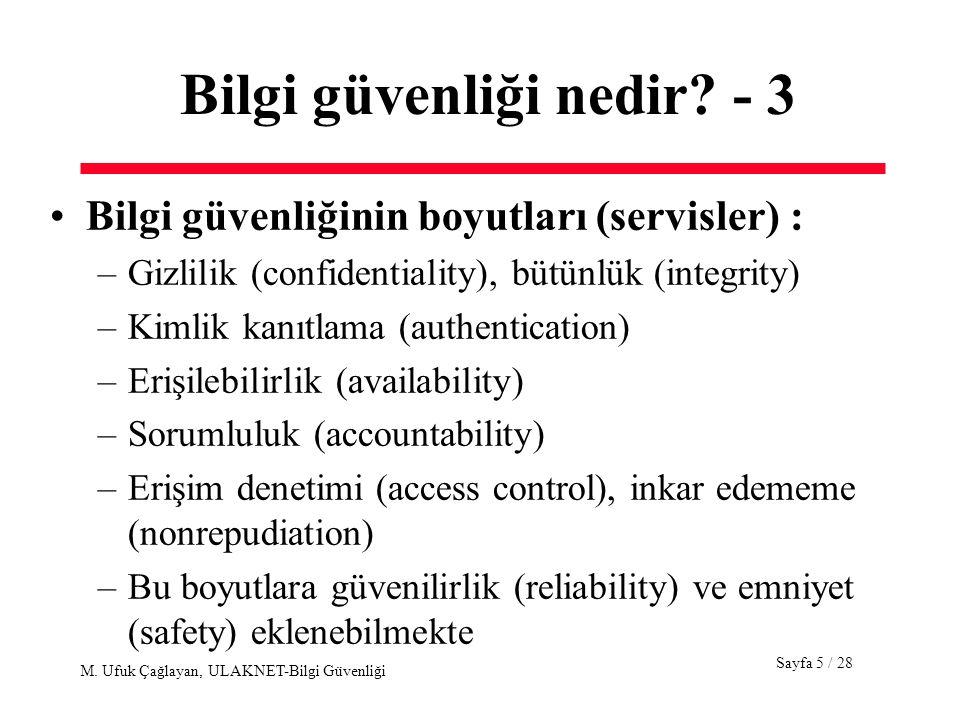 Bilgi güvenliği nedir - 3
