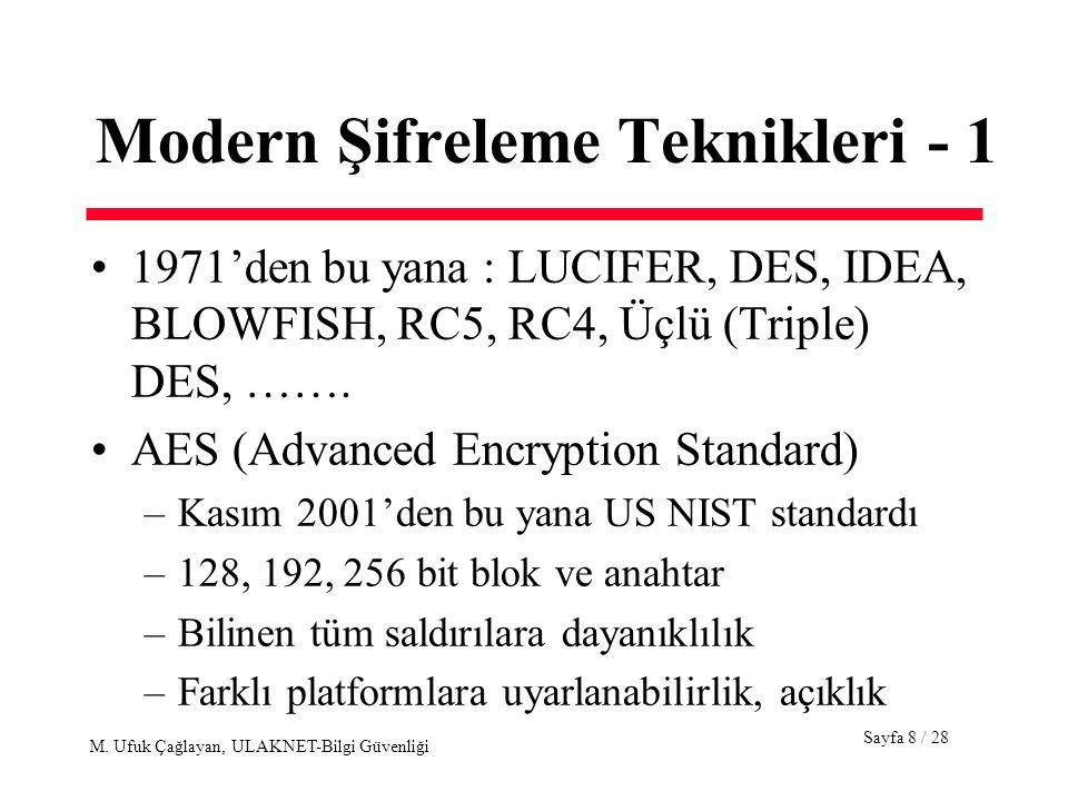 Modern Şifreleme Teknikleri - 1