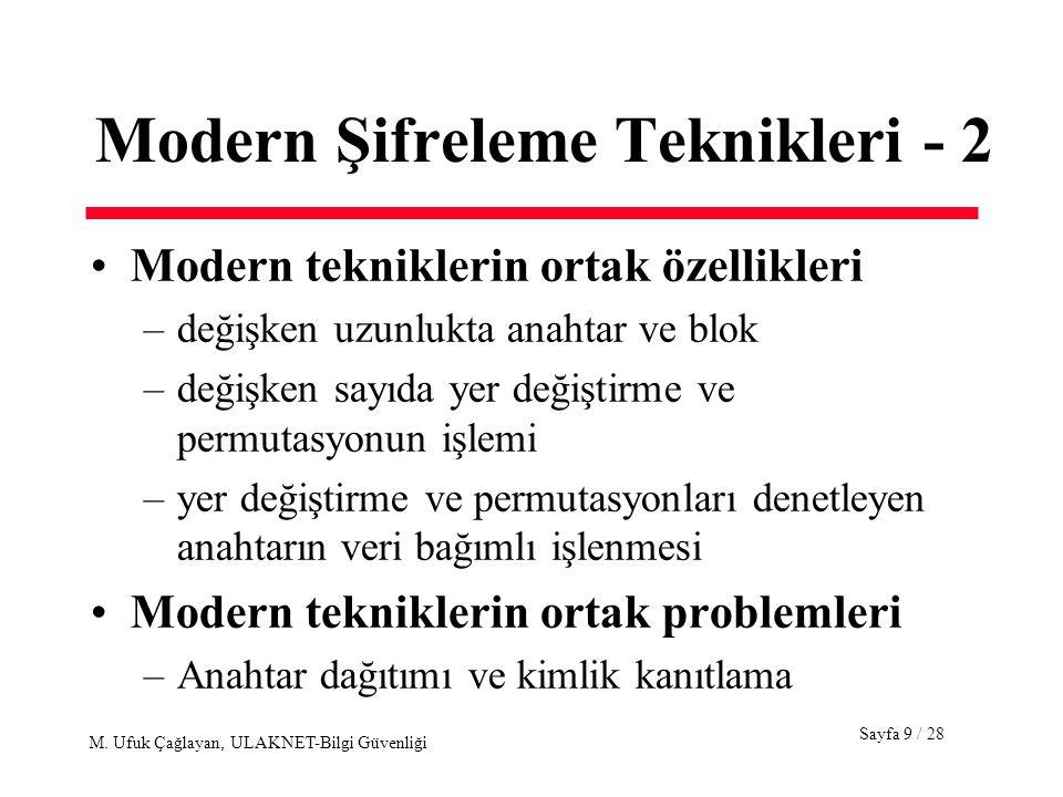 Modern Şifreleme Teknikleri - 2
