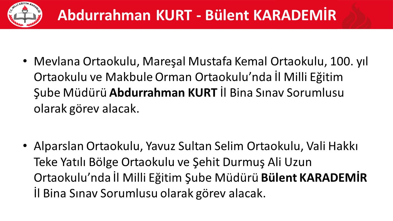 Abdurrahman KURT - Bülent KARADEMİR