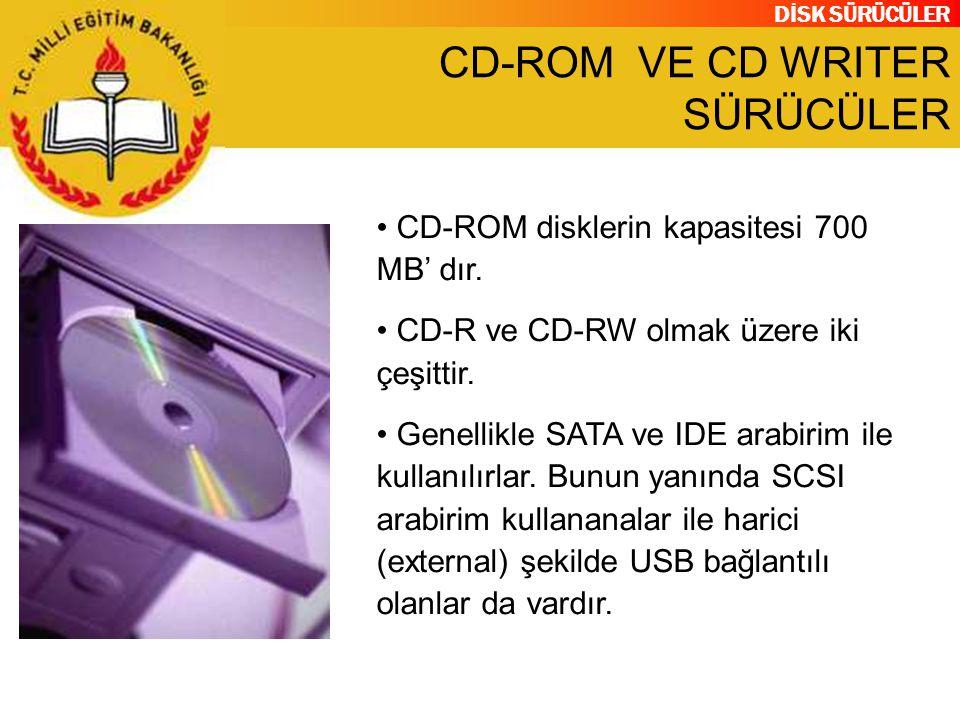 CD-ROM VE CD WRITER SÜRÜCÜLER