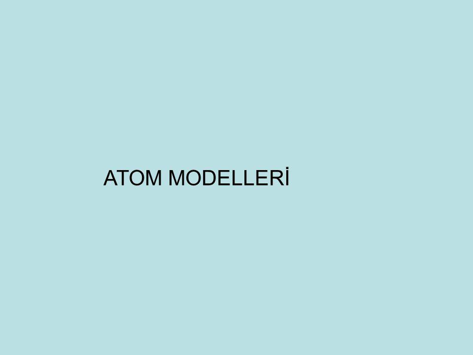 ATOM MODELLERİ 15