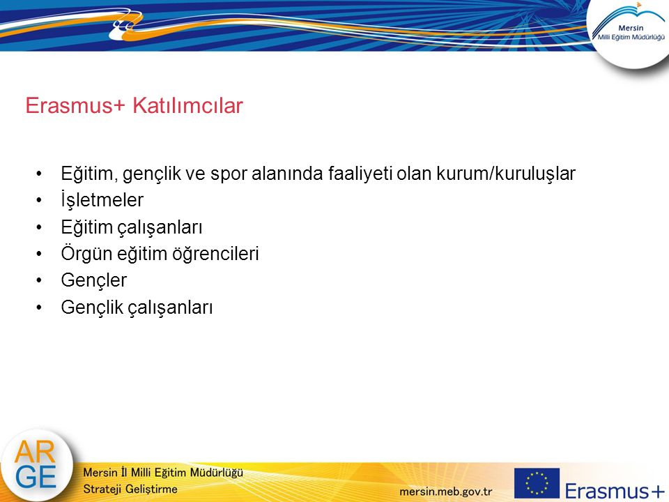 Erasmus+ Katılımcılar