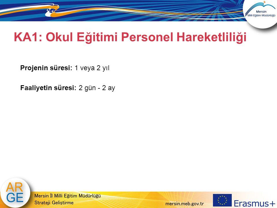 KA1: Okul Eğitimi Personel Hareketliliği