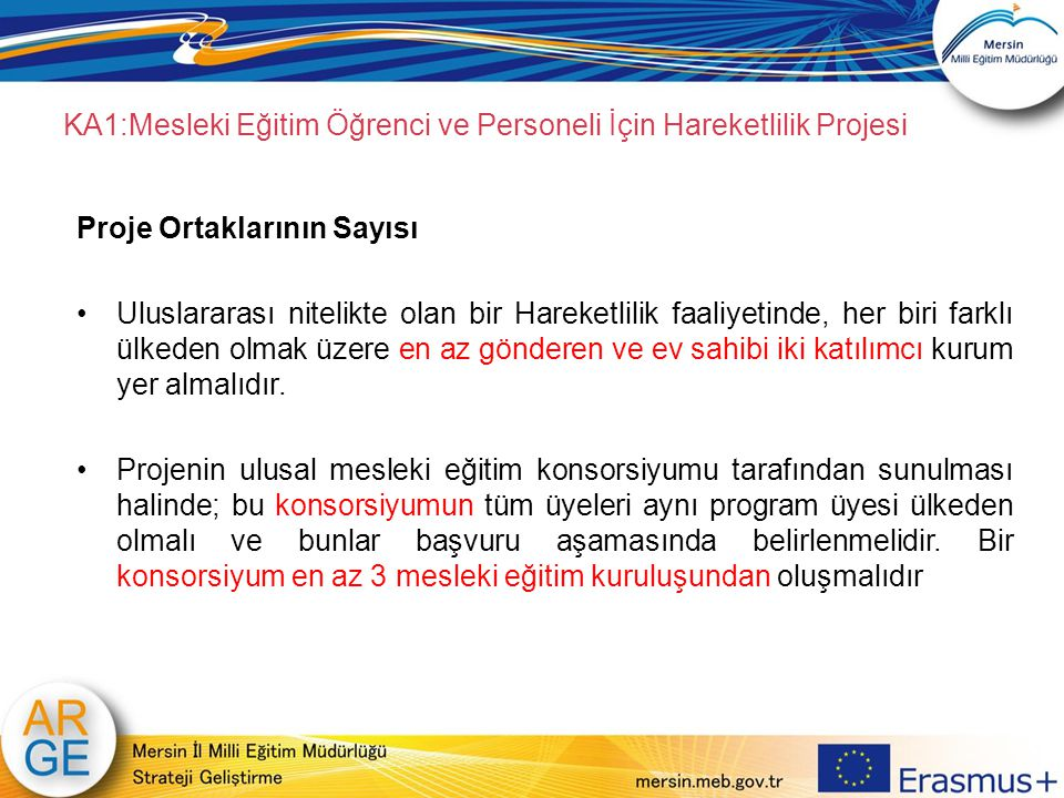 KA1:Mesleki Eğitim Öğrenci ve Personeli İçin Hareketlilik Projesi