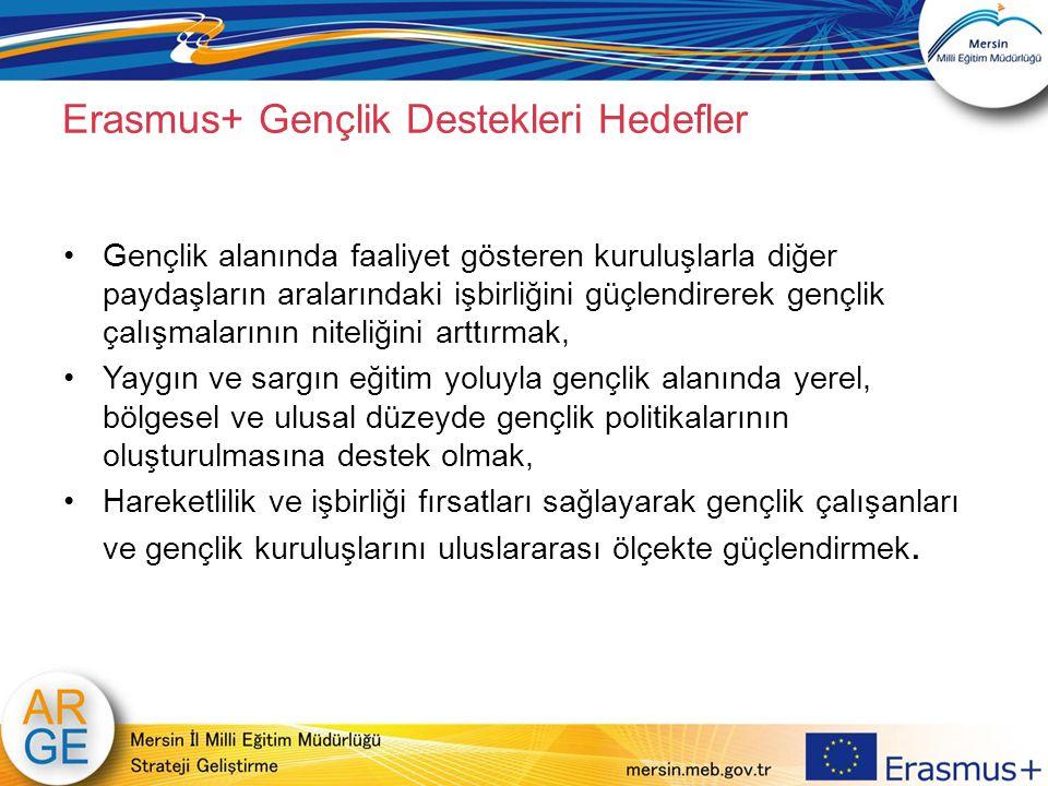 Erasmus+ Gençlik Destekleri Hedefler