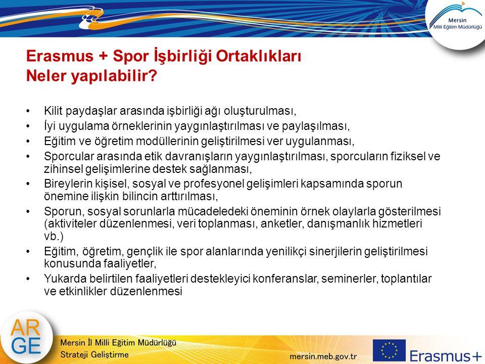 Erasmus + Spor İşbirliği Ortaklıkları Neler yapılabilir