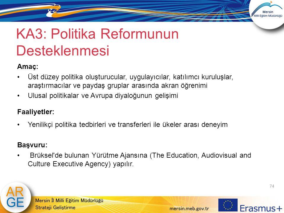 KA3: Politika Reformunun Desteklenmesi