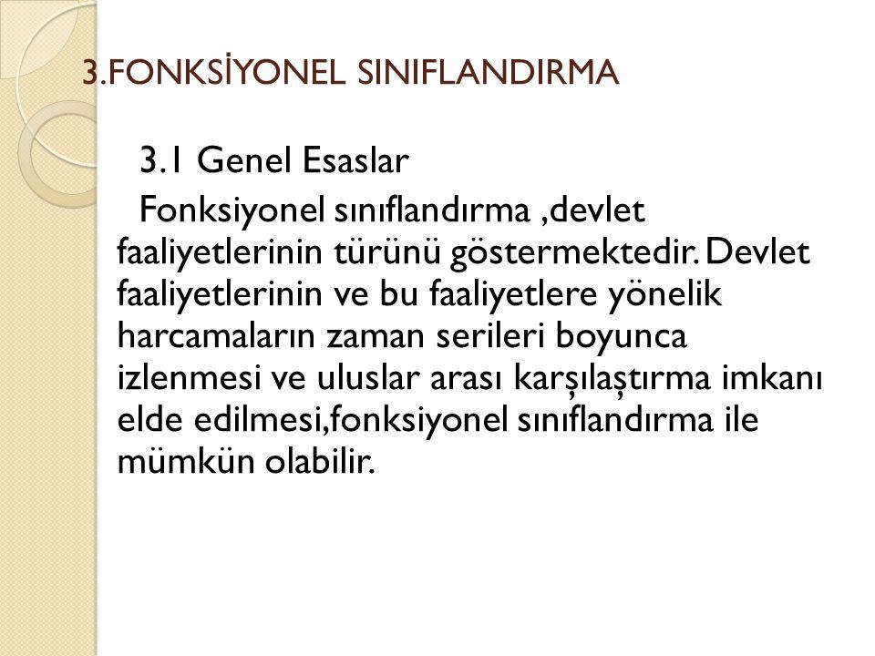 3.FONKSİYONEL SINIFLANDIRMA