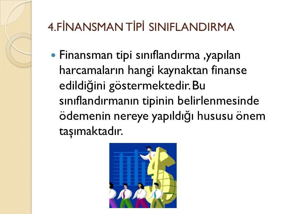 4.FİNANSMAN TİPİ SINIFLANDIRMA