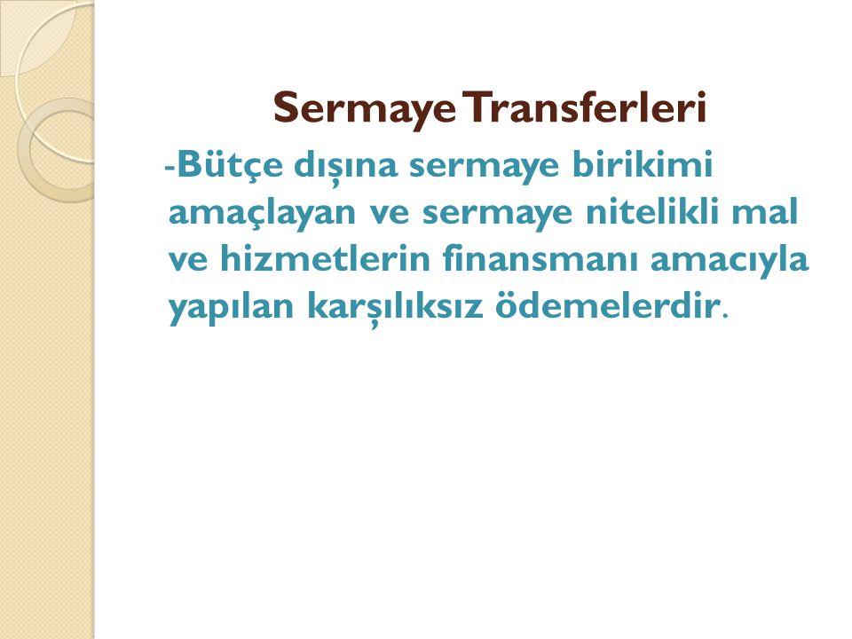 Sermaye Transferleri