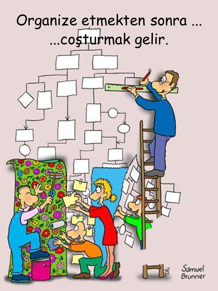 Organize etmekten sonra ...