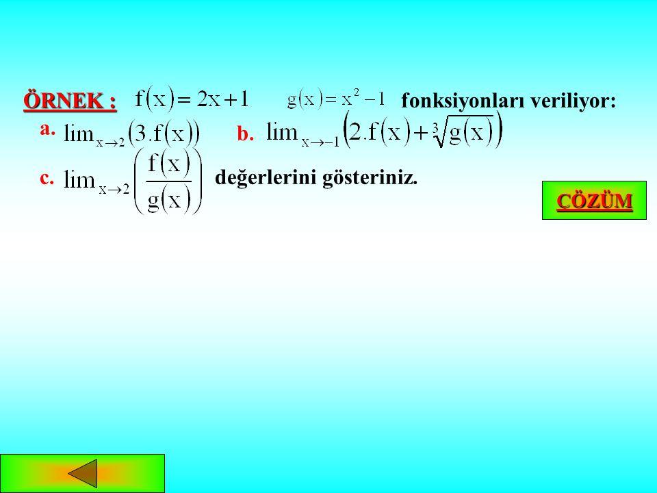 fonksiyonları veriliyor: a. b.