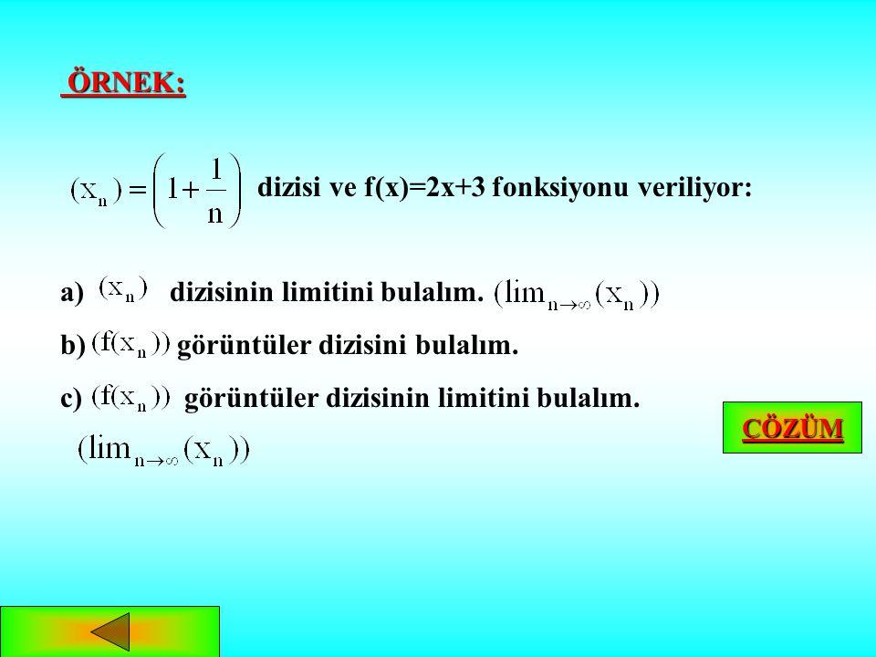 dizisi ve f(x)=2x+3 fonksiyonu veriliyor: