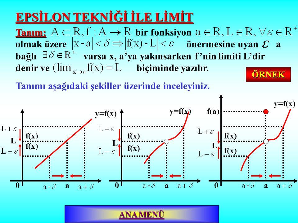 EPSİLON TEKNİĞİ İLE LİMİT