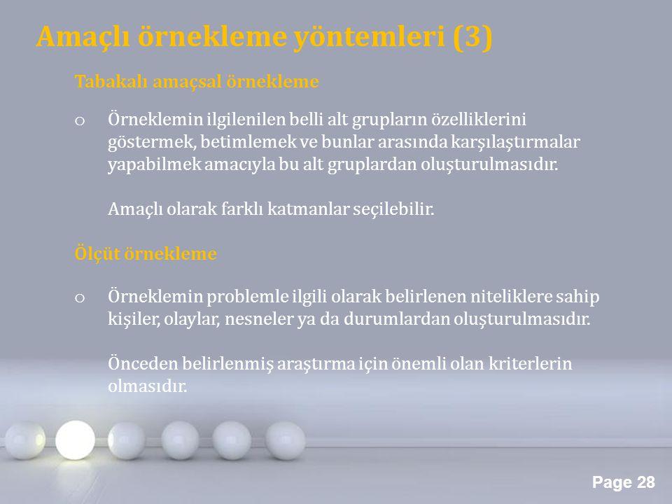Amaçlı örnekleme yöntemleri (3)