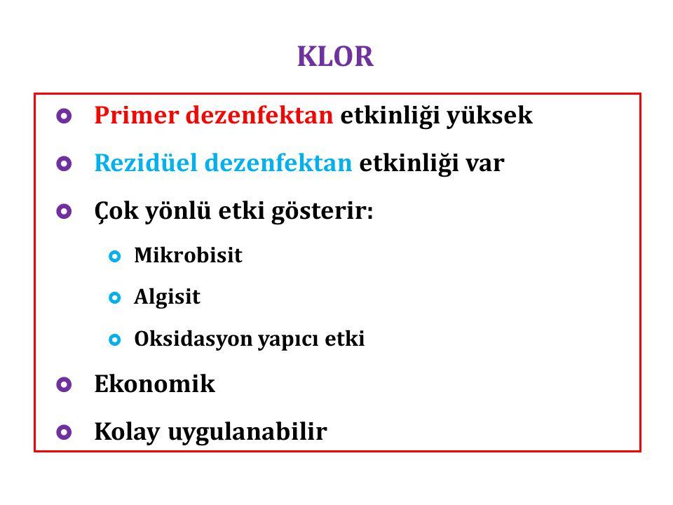 KLOR Primer dezenfektan etkinliği yüksek