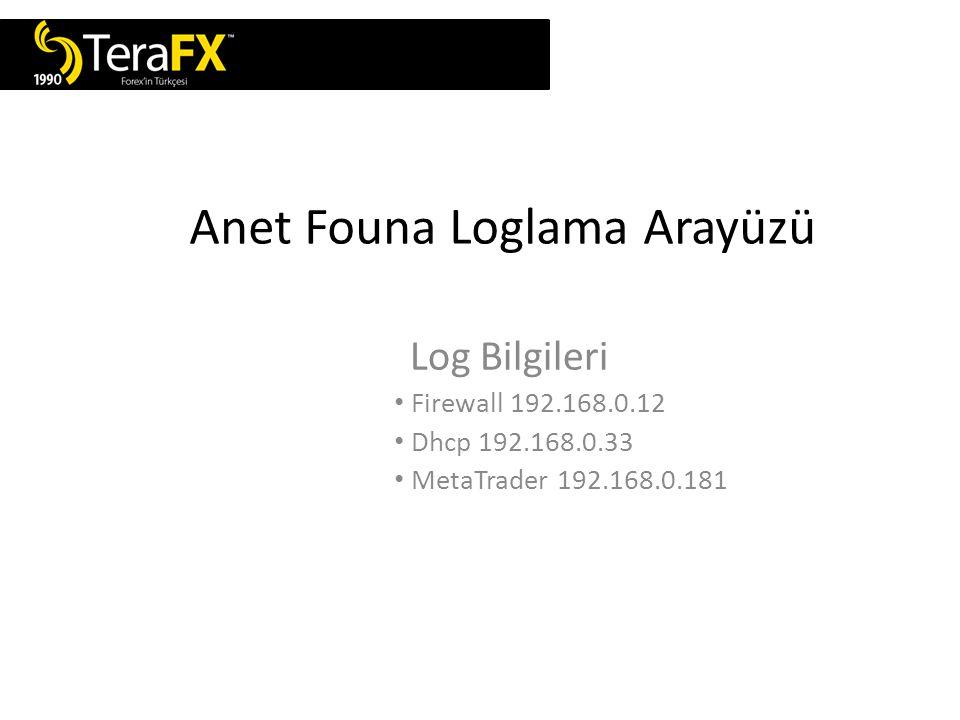 Anet Founa Loglama Arayüzü