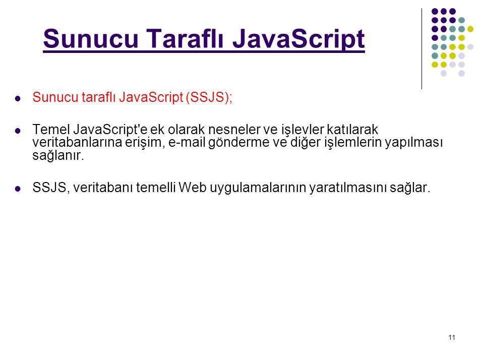 Sunucu Taraflı JavaScript
