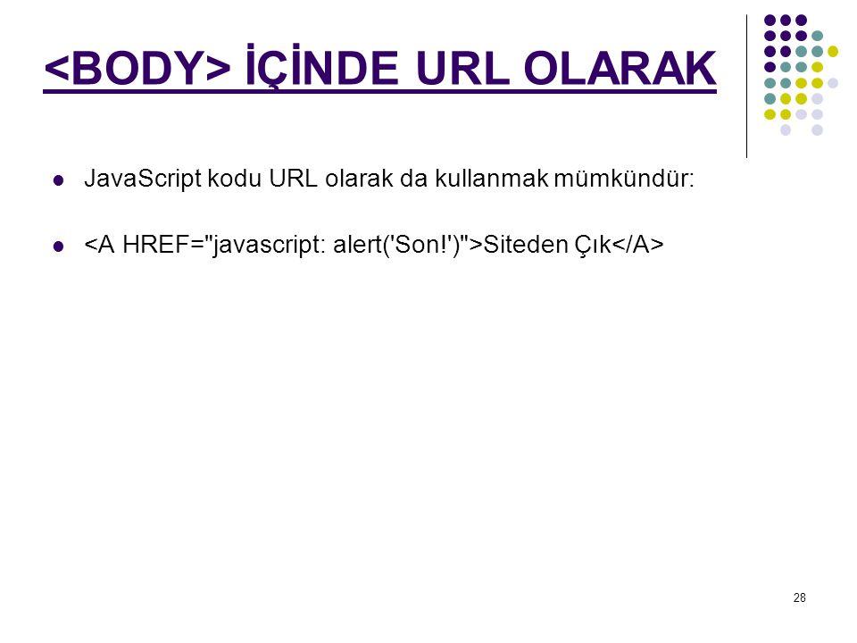 <BODY> İÇİNDE URL OLARAK
