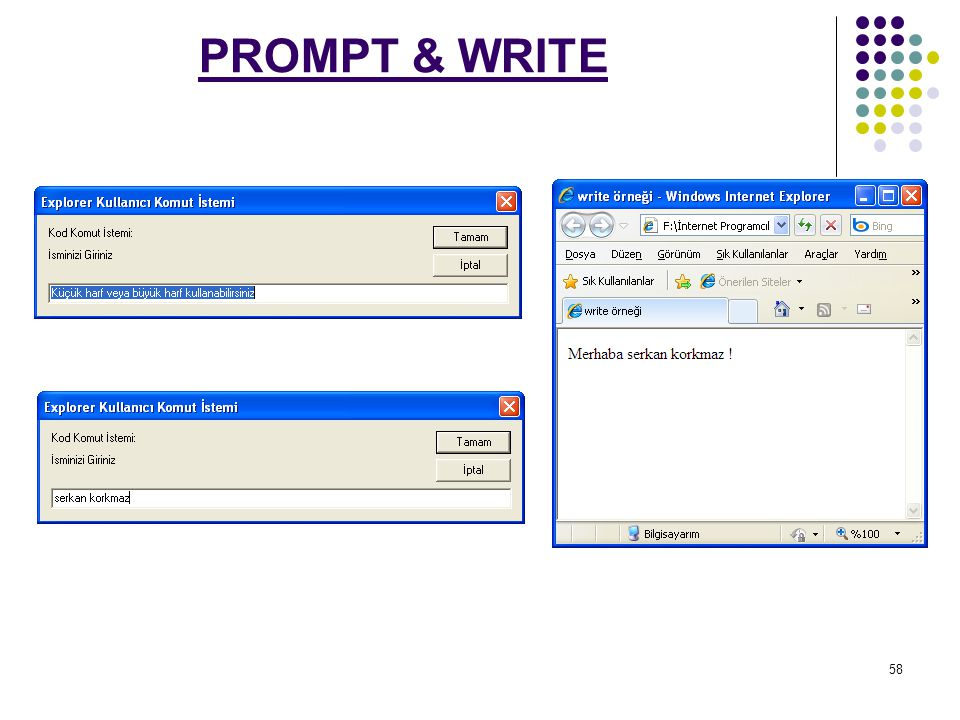 PROMPT & WRITE