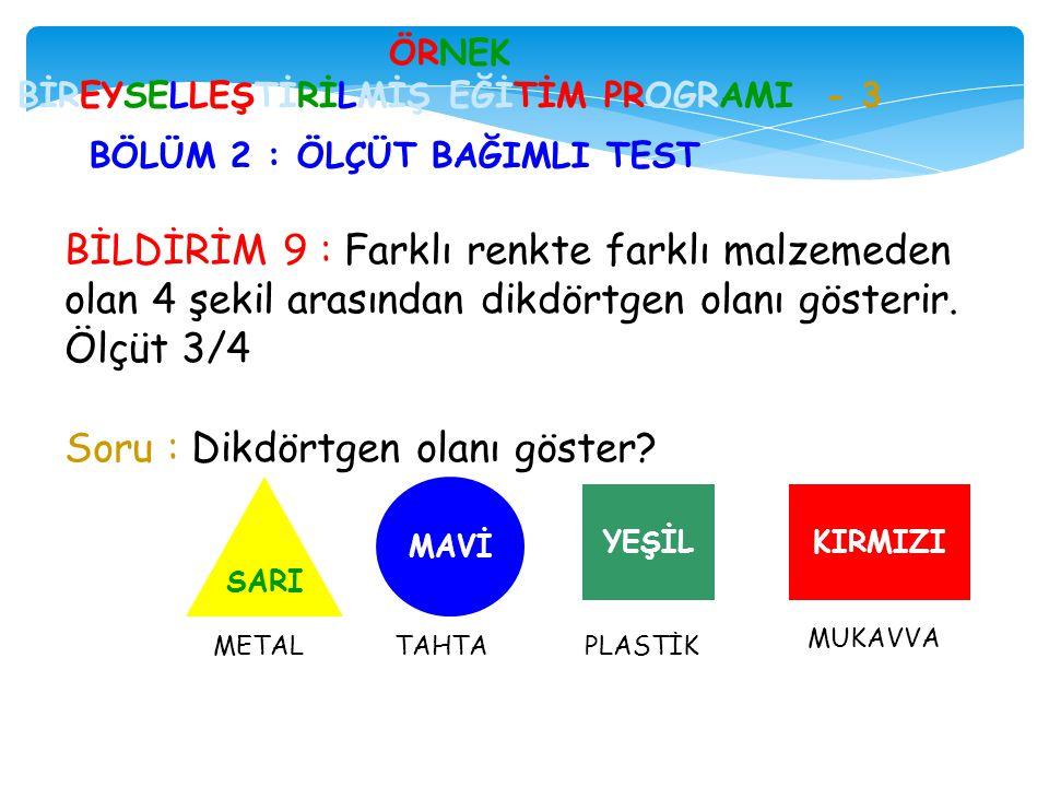 ÖRNEK BİREYSELLEŞTİRİLMİŞ EĞİTİM PROGRAMI - 3
