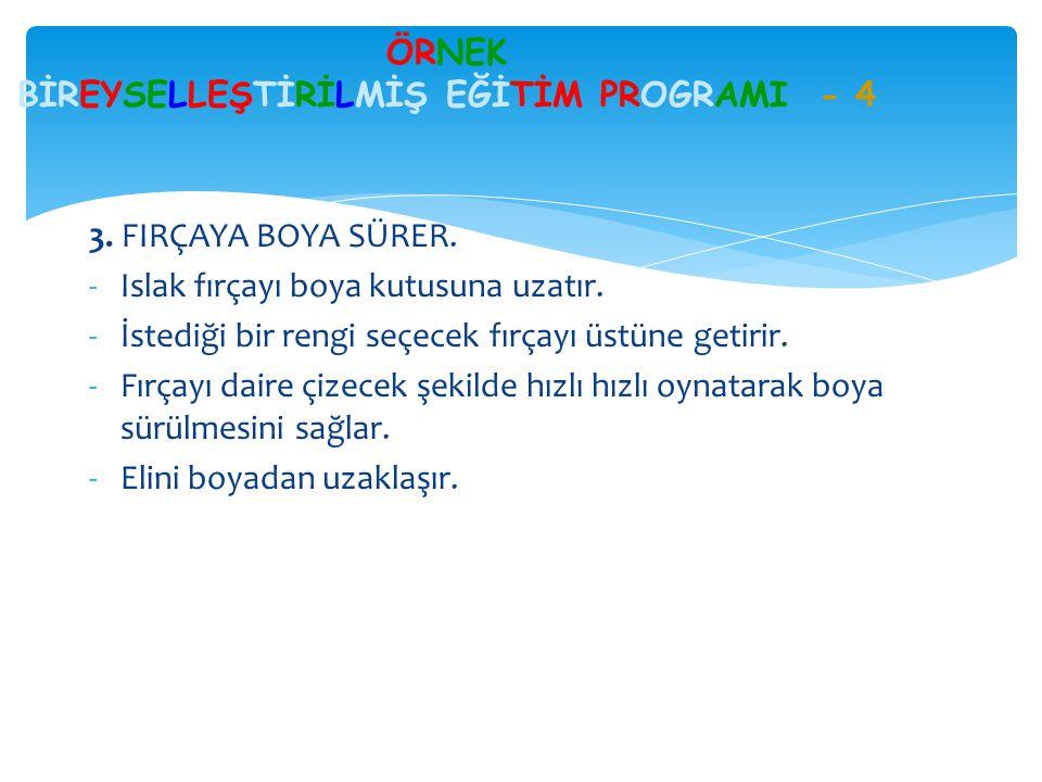 ÖRNEK BİREYSELLEŞTİRİLMİŞ EĞİTİM PROGRAMI - 4