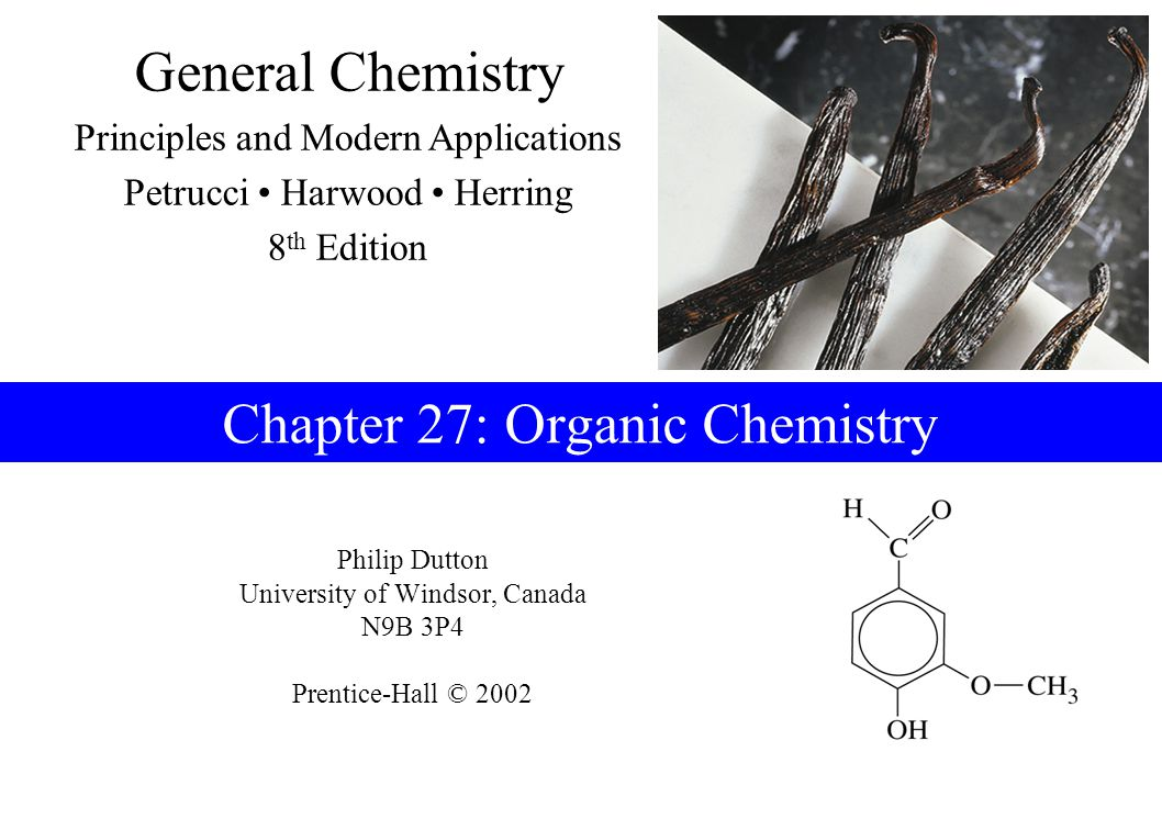 Chapter 27: Organic Chemistry