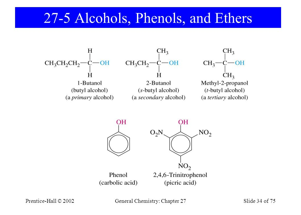 27-5 Alcohols, Phenols, and Ethers
