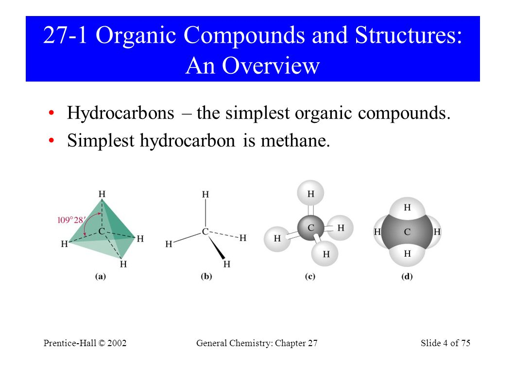 27-1 Organic Compounds and Structures: An Overview