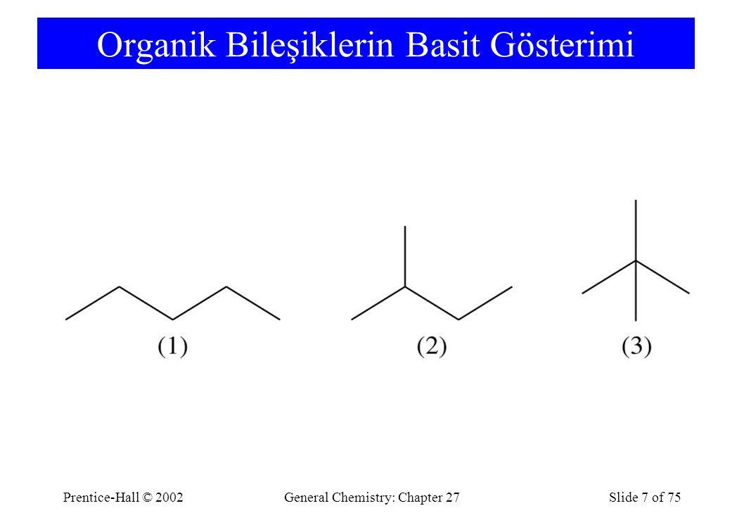 Organik Bileşiklerin Basit Gösterimi