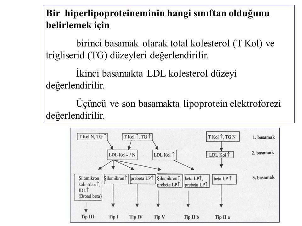 Bir hiperlipoproteineminin hangi sınıftan olduğunu belirlemek için