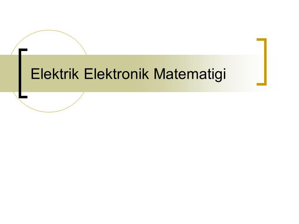 Elektrik Elektronik Matematigi