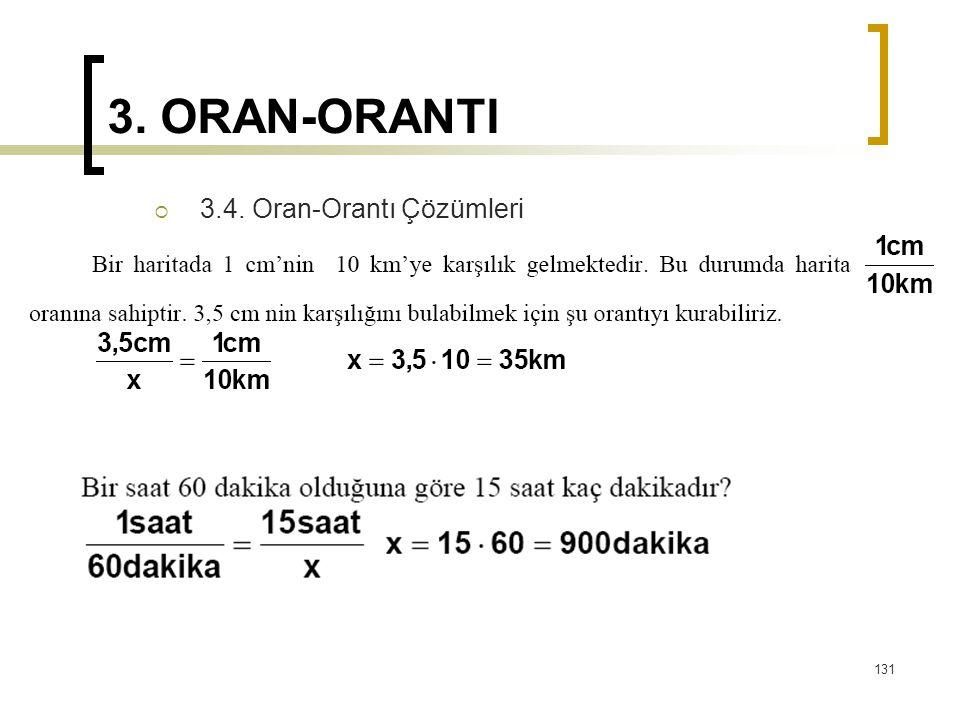 3. ORAN-ORANTI 3.4. Oran-Orantı Çözümleri
