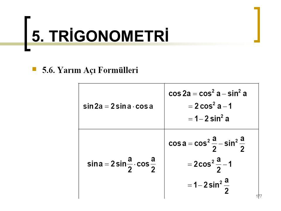 5. TRİGONOMETRİ