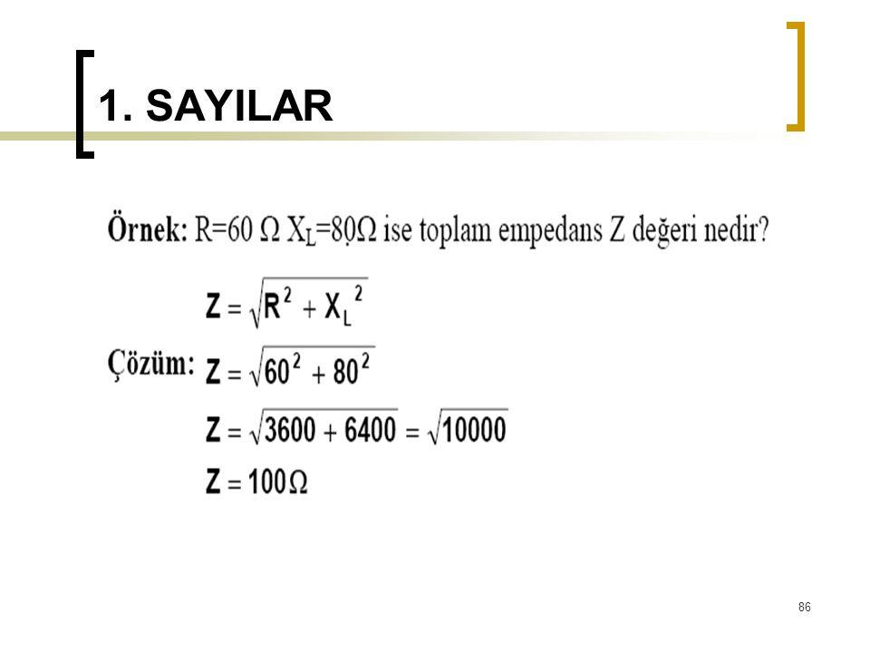 1. SAYILAR