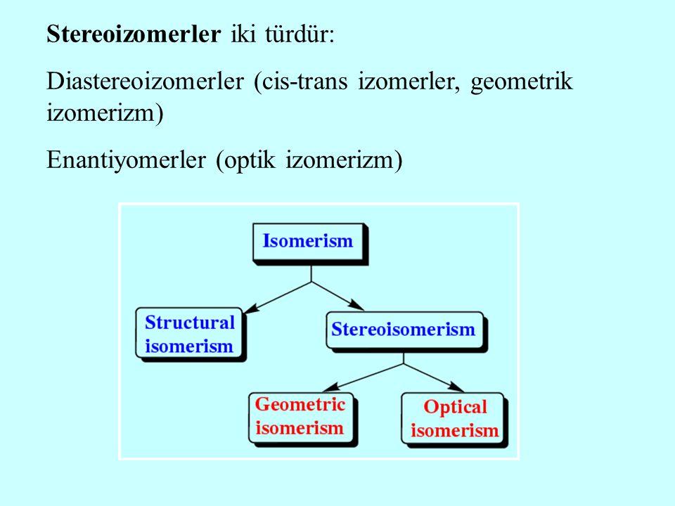 Stereoizomerler iki türdür: