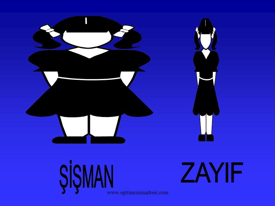 ŞİŞMAN ZAYIF www.egitimcininadresi.com