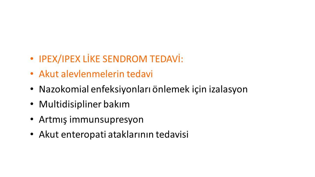 IPEX/IPEX LİKE SENDROM TEDAVİ: