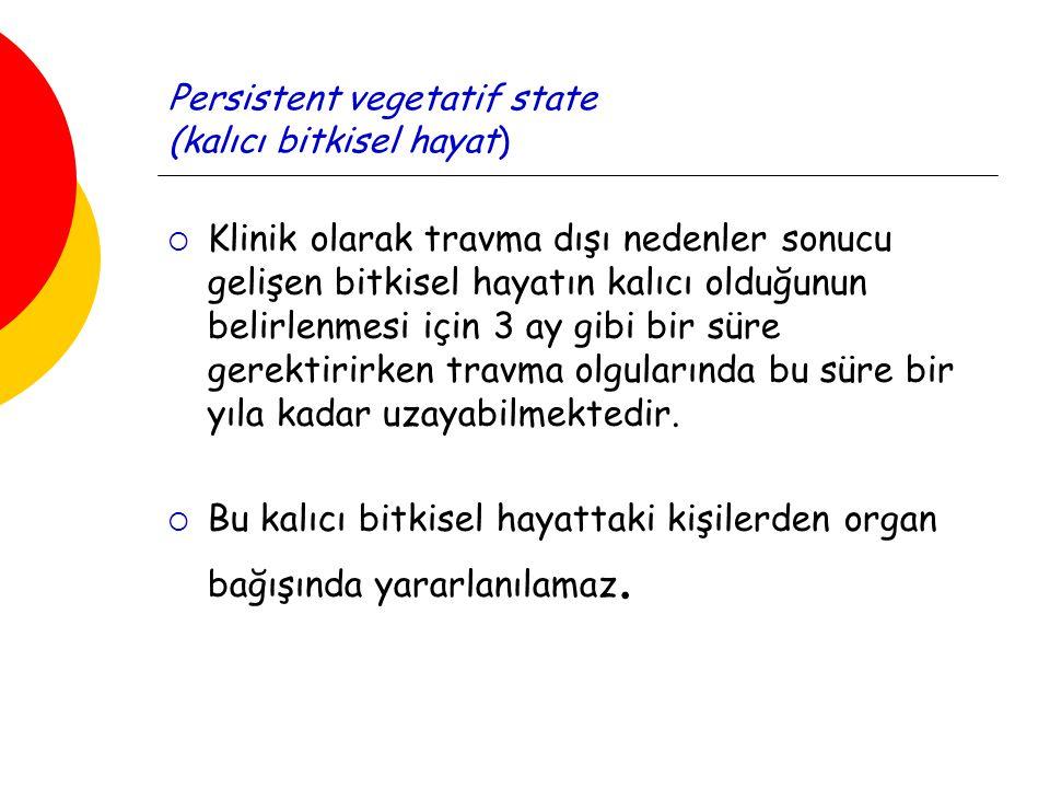 Persistent vegetatif state (kalıcı bitkisel hayat)