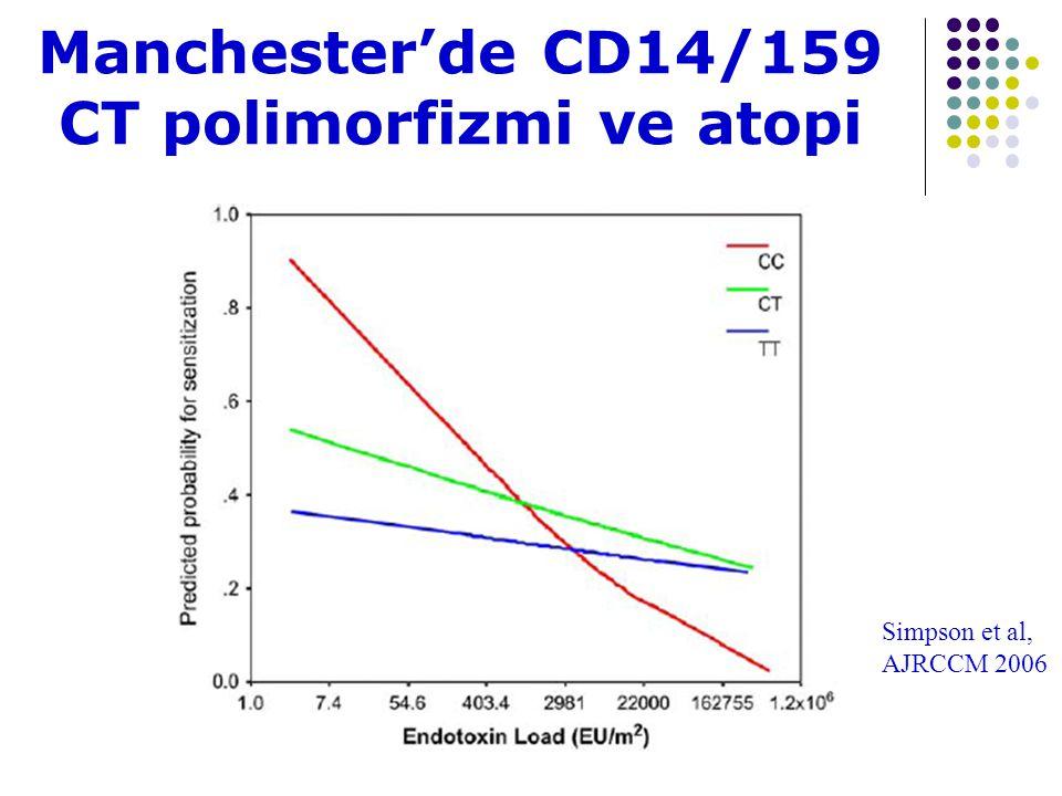 Manchester'de CD14/159 CT polimorfizmi ve atopi