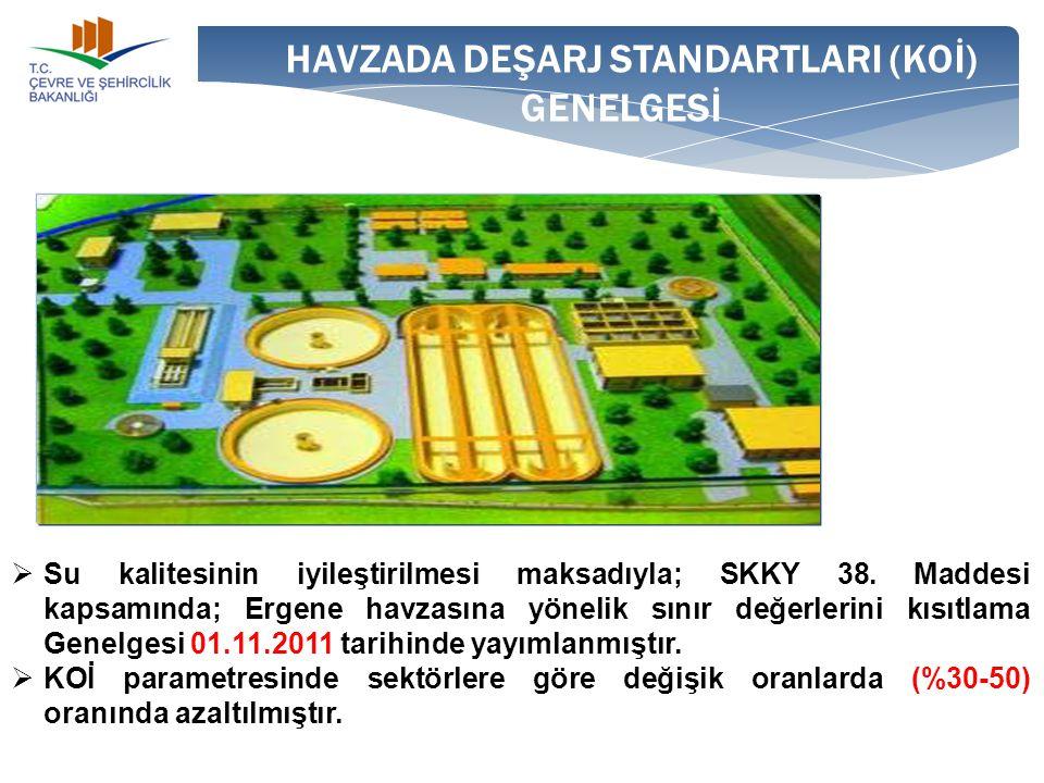 HAVZADA DEŞARJ STANDARTLARI (KOİ) GENELGESİ