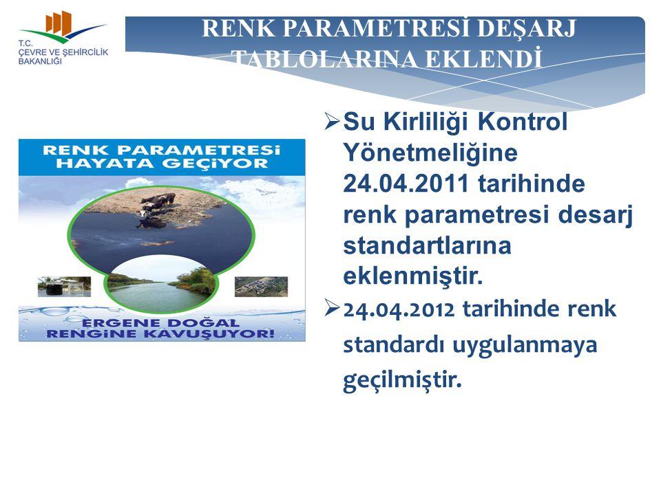 RENK PARAMETRESİ DEŞARJ TABLOLARINA EKLENDİ