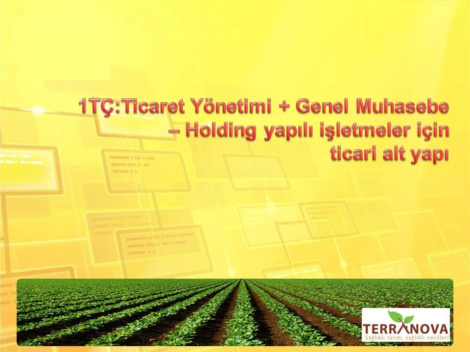 1TÇ:Ticaret Yönetimi + Genel Muhasebe – Holding yapılı işletmeler için ticari alt yapı