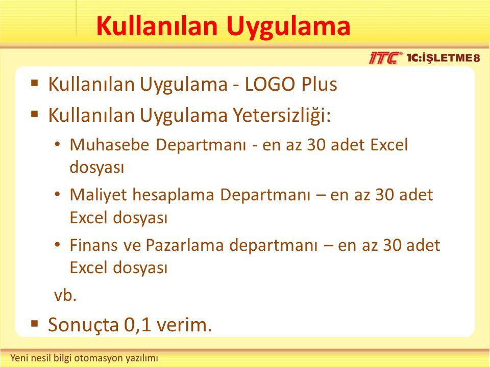Kullanılan Uygulama Kullanılan Uygulama - LOGO Plus