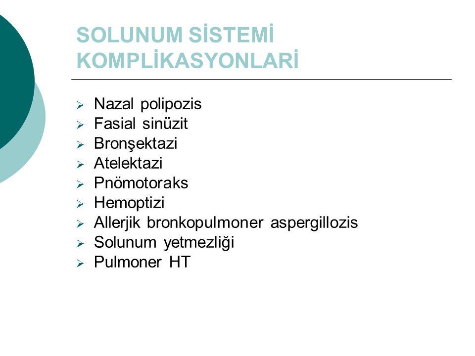 SOLUNUM SİSTEMİ KOMPLİKASYONLARİ