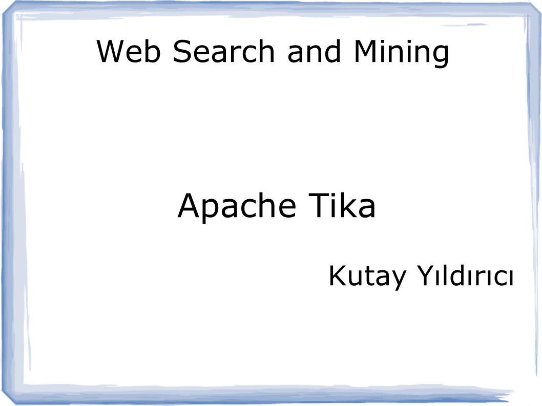 Apache Tika Kutay Yıldırıcı