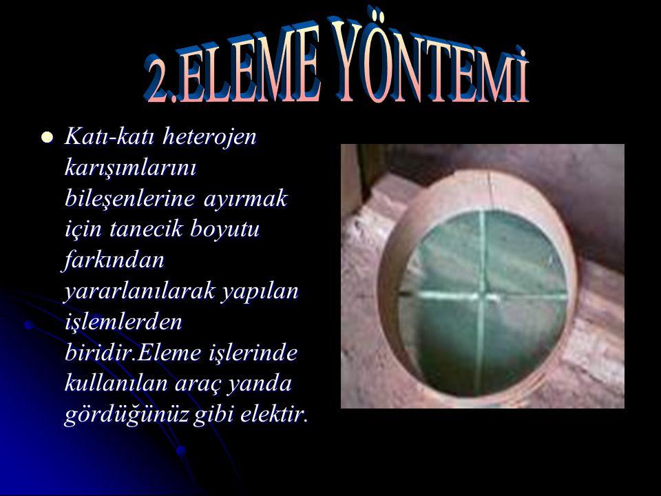 2.ELEME YÖNTEMİ