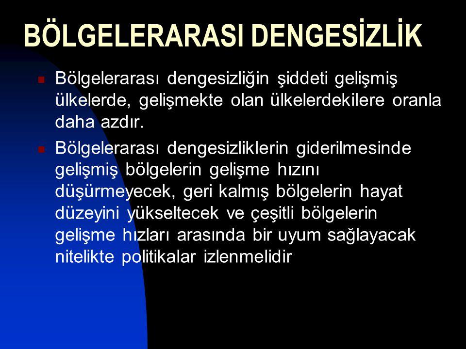 BÖLGELERARASI DENGESİZLİK