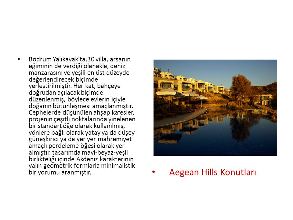 Aegean Hills Konutları